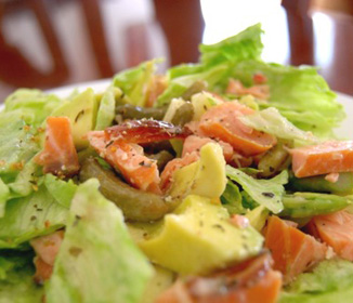 Salmon Avocado & Asparagus Salad